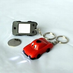 factory & manufacturer car shape solar flashlight keychain
