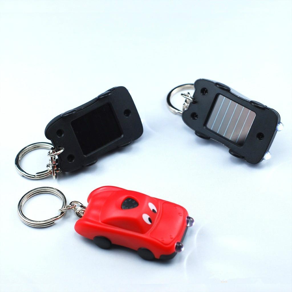 factory & manufacturer car shape solar flashlight keychain 4