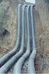 UHMW pipe with flanges for coal water slurry transportation