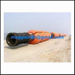 HDPE floating pipe with flange at both end