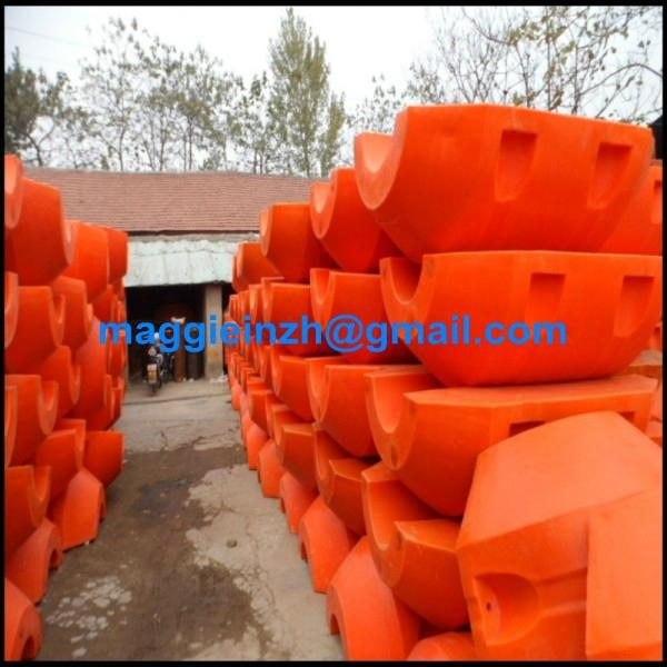 HDPE floating pipe with flange at both end  4