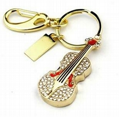 8GB Fashion Crystals Necklace Jewelry USB 2.0 Flash Memory Pen Drive Guital