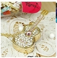 8GB Fashion Crystals Necklace Jewelry USB 2.0 Flash Memory Pen Drive Guital 2