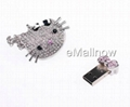 wholesale 2GB Cute Cat Diamond Jewelry USB 2.0 Flash Memory Drive  2