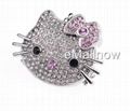 wholesale 2GB Cute Cat Diamond Jewelry USB 2.0 Flash Memory Drive  4