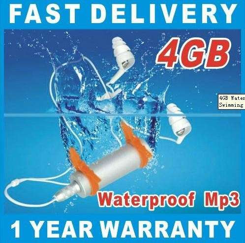 4GB Waterproof MP3 Playper FM Underwater Swimming Sport Swim Surf Run Sliver New 1