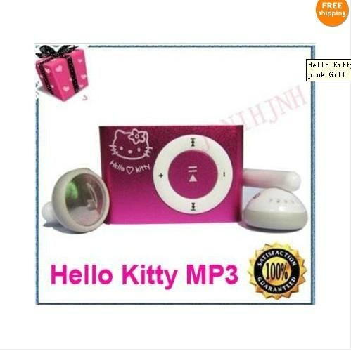 wholesale  Hello Kitty Clip MP3 Player For  4G TF Card pink Gift 1