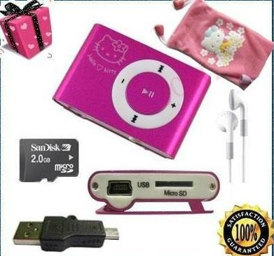 wholesale  Hello Kitty Clip MP3 Player For  4G TF Card pink Gift 3