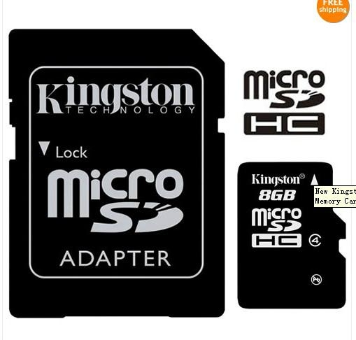 New Kingston Genuine 8GB 8G Class6 micro SD SDHC microSDHC Memory Flash Card 3