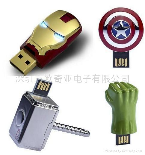 Top Selling Iron Man & Avenger  Iron Man 3 USB flash 1