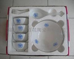 10头陶瓷促销餐具