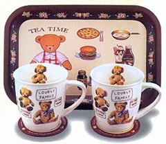 卡通促销陶瓷套杯(2件)