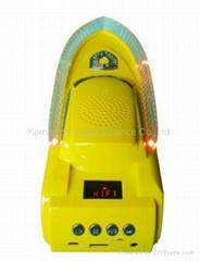 Boat shape speaker, computer speaker, multimedia speaker, USB, TF, FM radio