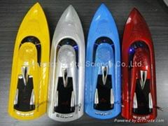 boat shape portable speaker, computer speaker, USB, TF, FM radio, multimedia