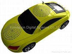 portable car shape speaker, computer speaker, USB, TF, FM radio, gift