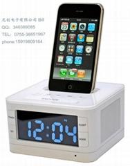 尼爾電子iphone禮品客房鬧鐘收音機音箱
