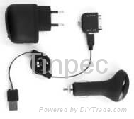 Charger Kit  3-In-1 For iPhone,HTC,BlackBerry