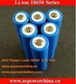 3.7V 2200mAh 18650 Battery flashlight