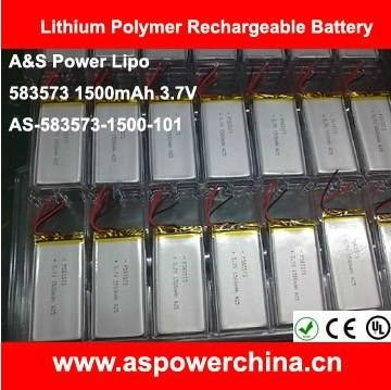 3.7V 1500mAh rc Lipo battery / Lithium Rechargeable Battery for airplanes 1