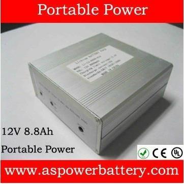 Portable power bank 12V 2 2Ah 18650 3S battery for battery