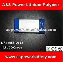 lipo battery 14.8V 3000mAh for RC toys