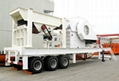 Movable stone crusher plant