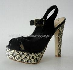 Lady Fashion Peep-Toe Shoes