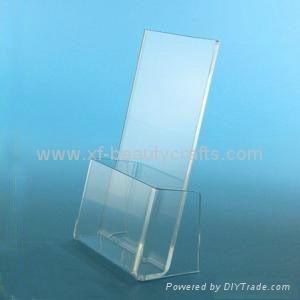 Tabletop File Holder Clear Acrylic Brochure Holder 1