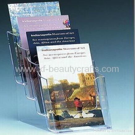 Tabletop File Holder Clear Acrylic Brochure Holder 2