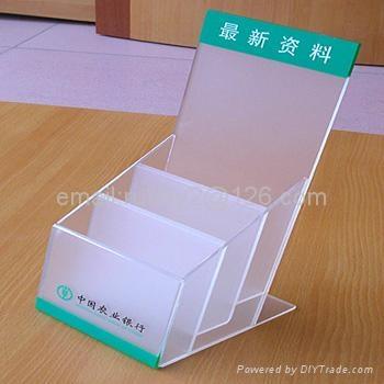 Tabletop File Holder Clear Acrylic Brochure Holder 5