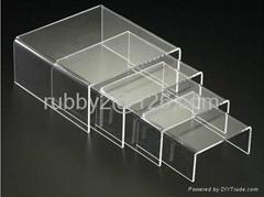Three Layers Acrylic Shoe Rack Bench