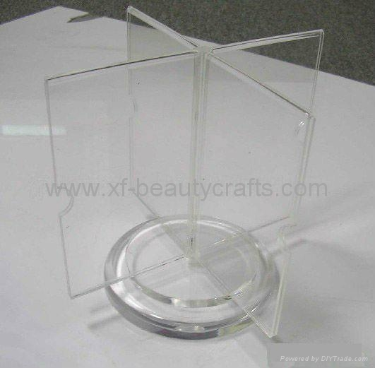 Product Image & Plastic Rotating Three Sides Acrylic Menu Stand Table Tent Holders ...