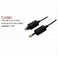 TJ1001 digital audio optical fiber cable with toslink plug