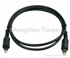 TJ1003 hot sales metal type digital audio optical fiber cable