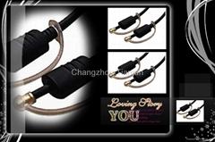 TJ1005 digital audio optical fiber cable pmma material