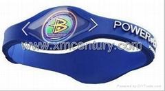 blue silicone rubber balance bracelets