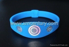 three hologram power balance silicone bracelets