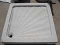 White marble shower pan