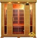 KZY Far Infrared Sauna Room for 4 Peroson in Hemlock