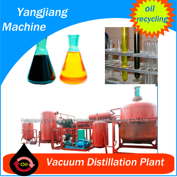Continuous Process 24 hours/day Used Engine Oil Recycling Machine for Base oil