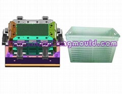 household plastic injection crate mould