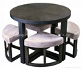 Round Breakfast Table With 4 Stools (X-D205) 1