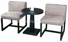 2012 New Wood Pedestal Side Table (MM-D204, MM-Q102)
