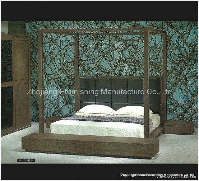 King size 4 poster bed mm b107 ehome china for Diy poster bed