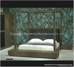 King Size 4 Poster Bed (MM-B107)