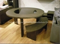 Round Table and Arc-Shaped Chairs
