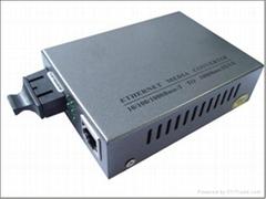 10/100/1000M 单模光纤收发器