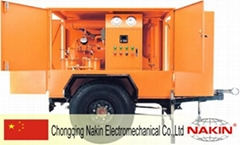 Trailer type insulating oil filtration