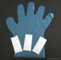 folded pe gloves