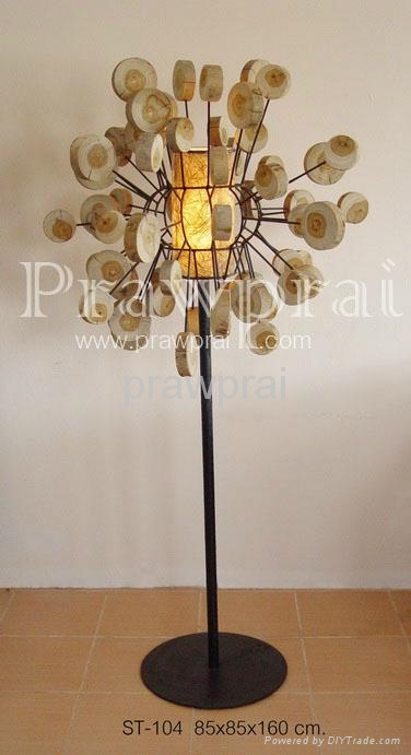 Wood Design Floor Lamp Art 1